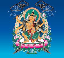 Yoga Mandala Henna Ornate Ohm Tan by Carolina Swagger
