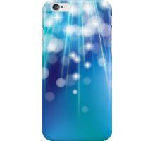 Shiny glowing turquoise background iPhone Case/Skin