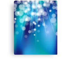 Shiny glowing turquoise background Canvas Print