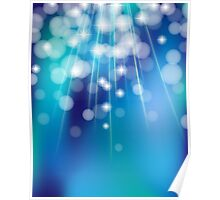 Shiny glowing turquoise background Poster