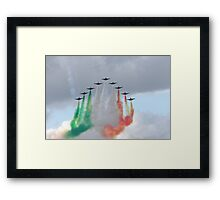 Italian aircraft display team Framed Print