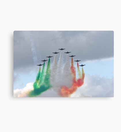 Italian aircraft display team Canvas Print