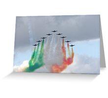 Italian aircraft display team Greeting Card