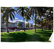 Miami Beach Ocean Drive Poster