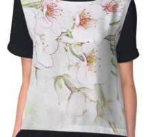 Cherry blossoms in the orchard Chiffon Top