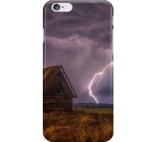 barn thunderstorm iPhone Case/Skin