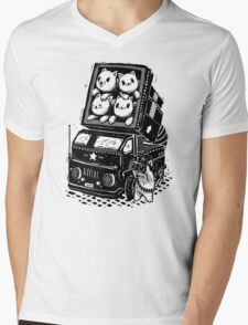 Rocket Cats - Vintage Style Mens V-Neck T-Shirt