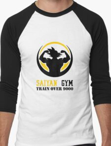 Saiyan Gym - Train Over 9000 Men's Baseball ¾ T-Shirt