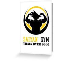 Saiyan Gym - Train Over 9000 Greeting Card