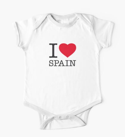 I ♥ SPAIN One Piece - Short Sleeve