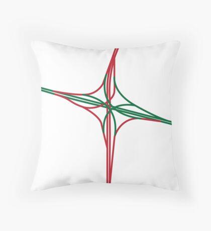 i-25/e-470 interchange Throw Pillow