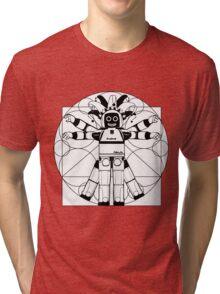 Vitruvian ASIMO. Leonardo da Vinci Tri-blend T-Shirt