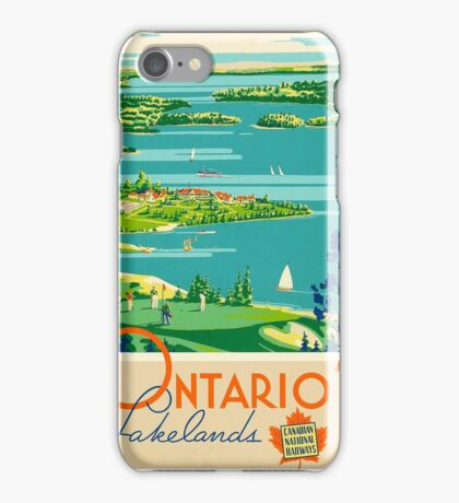 Ontario Vintage Travel Poster iPhone Case/Skin