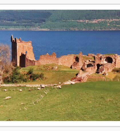 Urquhart Castle on Loch Ness Sticker