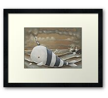 Beached Narwhal Framed Print