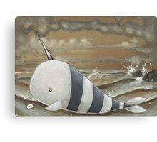 Beached Narwhal Canvas Print