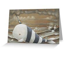 Beached Narwhal Greeting Card