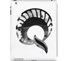 Alphabet Letter Q Abstract Watercolour white iPad Case/Skin