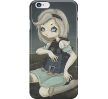 Alice and the White Rabbit's House. iPhone Case/Skin