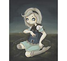 Alice and the White Rabbit's House. Photographic Print