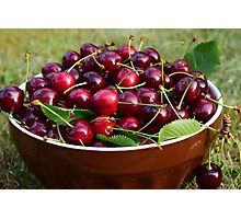 Cherries in a bowl Photographic Print