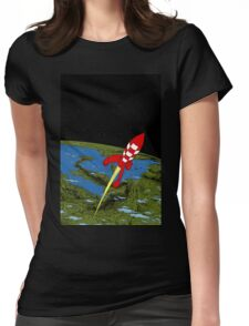 Tintin Rocket Womens Fitted T-Shirt