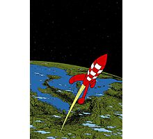 Tintin Rocket Photographic Print
