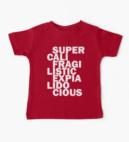 supercalifragilisticexpialidocious black Baby Tee