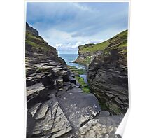 Rocky Valley, Bossiney, Cornwall, Großbritannien Poster