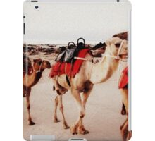 camels on the sand iPad Case/Skin