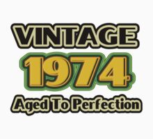 Vintage 1974 - Aged To Perfection One Piece - Short Sleeve