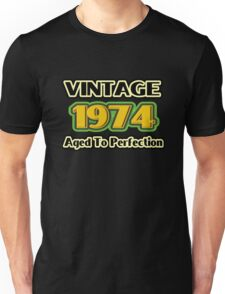 Vintage 1974 - Aged To Perfection Unisex T-Shirt