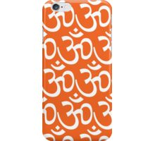Yoga Ohm Symbol ORANGE iPhone Case/Skin