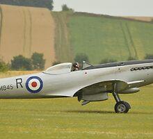 Supermarine Spitfire mk18 (SM845) by Andy Jordan