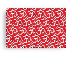 Yoga Ohm Symbol RED Canvas Print