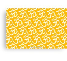 Yoga Ohm Symbol YELLOW Canvas Print