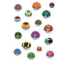 Pokeballs - Pokémon Photographic Print