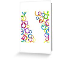 Colourful rings Greeting Card