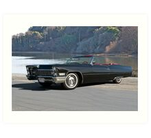 1968 Cadillac DeVille Convertible 'Lakeside' Art Print