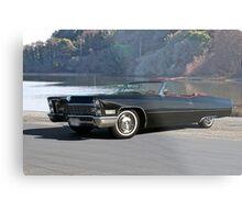 1968 Cadillac DeVille Convertible 'Lakeside' Metal Print