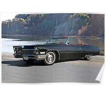 1968 Cadillac DeVille Convertible 'Lakeside' Poster