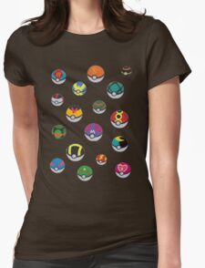 Pokeballs - Pokémon Womens Fitted T-Shirt
