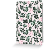 Pink Posies Floral Pattern Greeting Card