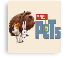 The secret life of pets characters Canvas Print