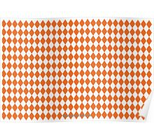 Clemson Orange Argyle Poster