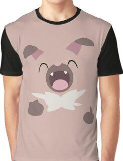 Minimalistic Rockruff Graphic T-Shirt