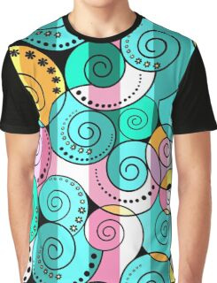 Abstract pattern in RETRO style Graphic T-Shirt