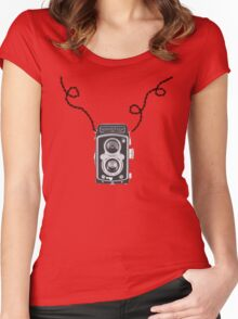 Retro Rolleiflex Design Women's Fitted Scoop T-Shirt