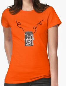 Retro Rolleiflex Design Womens Fitted T-Shirt