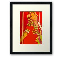 Soviet beauty Framed Print